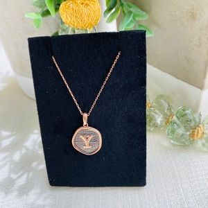 Jewelry - Sterling Silver Rose Gold Plated Initial necklace